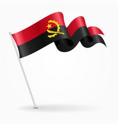 angolan pin wavy flag vector image