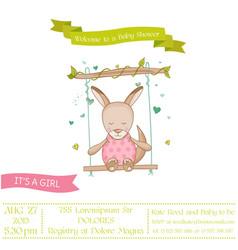 Baby shower or arrival card - girl kangaroo vector