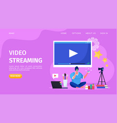 Beauty online video streaming vector