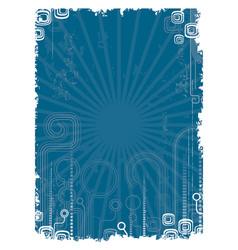 Blue retro vector