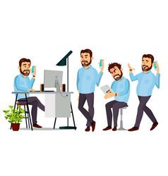 boss character environment process vector image