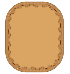 brown frame with pattern vector image
