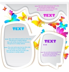 bubble for speech butterflies background vector image