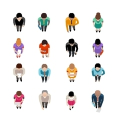Business People Top View vector
