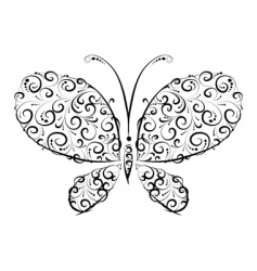 butterfly silhouette vector image