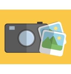 Camera and photos icon image vector