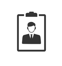 Candidate resume icon vector
