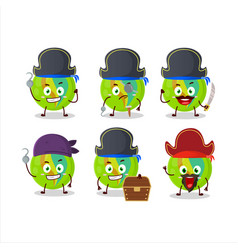 Character green marbles with various pirates vector