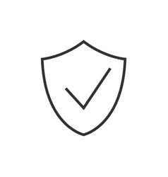 check shield outline icon vector image