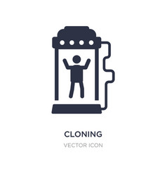 Cloning icon on white background simple element vector