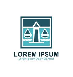 Coastal lawyer firm vector