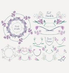 Colorful floral design elements dividers frames vector