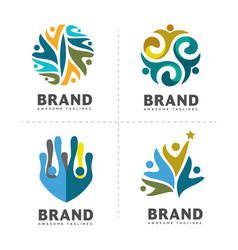 Community colorful logo template vector