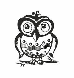 Cool owl vector