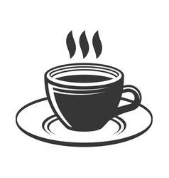 cup with hot tea or coffee on white background vector image