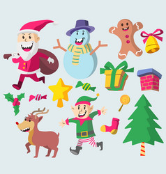 cute christmas character vector image