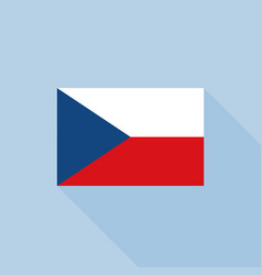 czech republic flag in official proportions vector image
