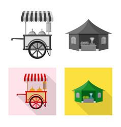 Design of market and exterior symbol set vector