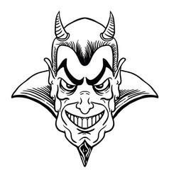 devil black vector image