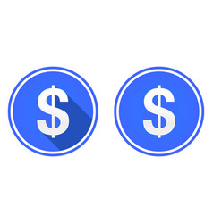 dollar flat icon currency icon vector image