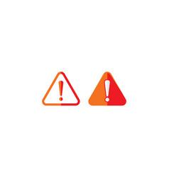 exclamation mark alert icon logo vector image