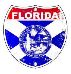 Florida interstate sign vector