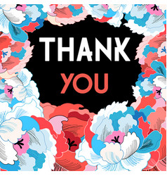 Flower card with gratitude vector
