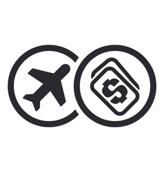 Fly price icon vector