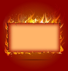frame with fire vector image
