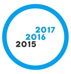 From 2016 To 2017 Years Icon vector image