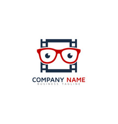 Geek video logo icon design vector