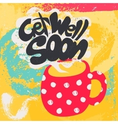 Get Well Soon Decorative Card vector