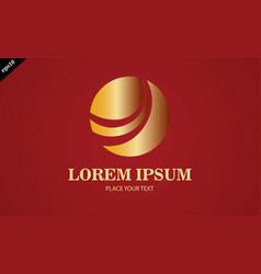 Gold round loop logo vector