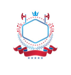 graphic emblem composed with royal crown element vector image