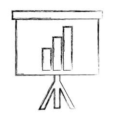 Grunge statistics bar precentation graphic growing vector