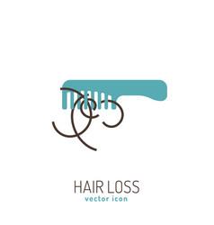 Hair loss icon vector