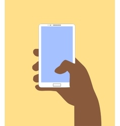 Hand holding Smartphone in vector image