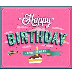 Happy birthday typographic design vector image