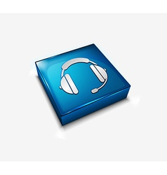 Headphone web icon vector