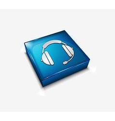 Headphone web icon vector