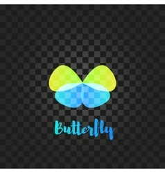 Isolated green and blue butterfly logo vector image