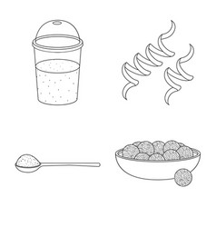 Isolated object food and vegan symbol vector