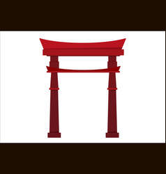Japanese pagoda icon vector