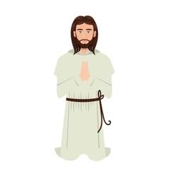 jesus christ man cartoon vector image