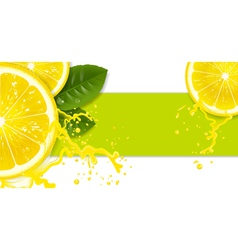 lemon background vector image