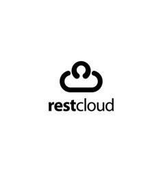 neck pillow with cloud logo design concept vector image