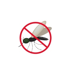 No mosquitoes isolated on vector