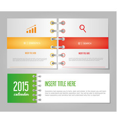 notebook page paper note business text office vector image