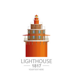 old lighthouse vector image