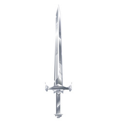 One metal sword vector
